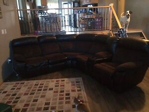 Leather/ Suede couch
