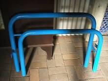 Blue Tubular Steel Single Bed + Mattress Norman Park Brisbane South East Preview