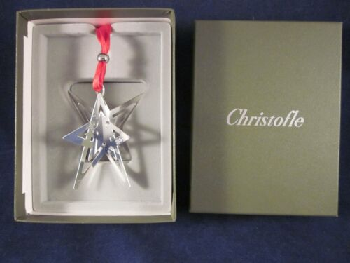 CHRISTOFLE 2005 Noel Star Christmas Ornament ~ EXCELLENT in CHRISTOFLE BOX