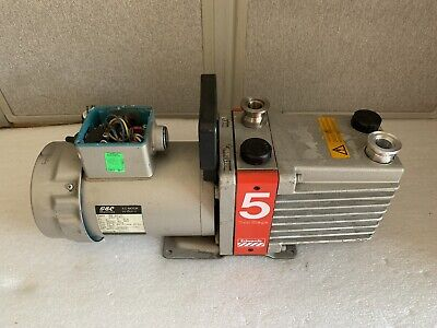 Edwards 5 Two Stage Vacuum Pump W Gec Bs 5000-11 220v Bs 2212 Ac Motor