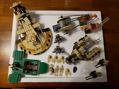 Lego Star Wars Trade Federation AAT 7155, 7126 Battle Droid Carrier, Naboo lot