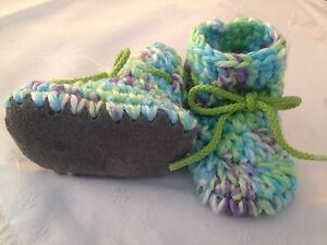 Handmade Padraig Baby Booties w/leather Soles
