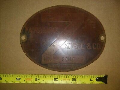 Fairbanks Morse Z Headless 1 12 Hp Brass Id Tag Old Original Not Reproduction