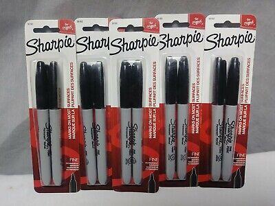 Sharpie Black Fine Point Bullet Tip Permanent Marker Pens Pack Of 10