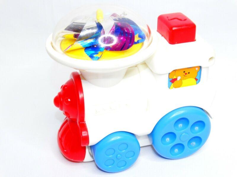 Vintage 1993 Fisher Price 1049 Push Train Twirling Pinwheel Baby Toy
