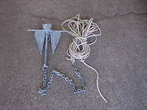 SAND ANCHOR2.5 KG WITH CHAIN&ROPE Golden Beach Caloundra Area Preview