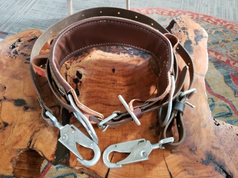 Buckingham Size 26 Safety Belt with Pole Tree Strap and Bashlin No 703. Mint co.