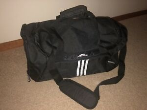 9d59fb33e902 Adidas Duffle Gym Bag Black. Authentic ...