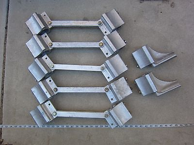 "Assorted 2"" Dia Aluminum Brackets, Used"