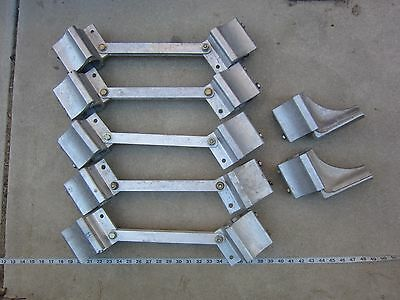 "Assorted 2"" Dia Aluminum Brackets, Used"