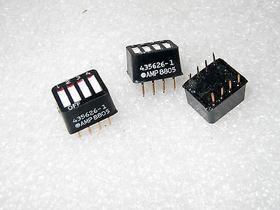 Amp-tyco 4 Pole Rocker Style Dip Switches Black - 10 Pcs