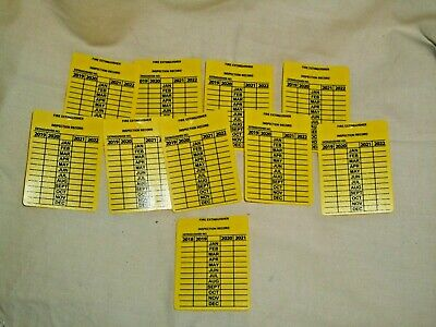 10-plastic Fire Extinguisher Inspection Record Tags