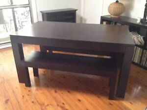 Solid Wooden Table with Bench Chairs North Turramurra Ku-ring-gai Area Preview