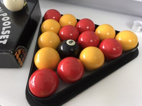 Full Size 16 Red and Yellow Pool Ball Set 2