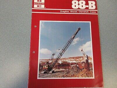Rare Bucyrus-erie 88-b Crane Excavator Sales Brochure 1977