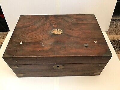 Victorian Walnut Writing Box Slope