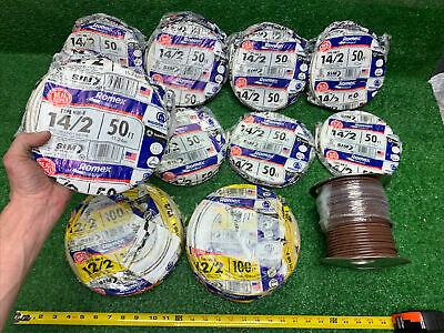 850 Wire Huge Lot- 122 Wground Romex Electrical Wire 100 Feet 142 50