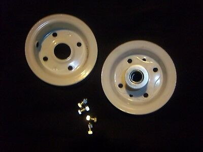 Two 4.103.50-4 Hand Truck Air Tire Rims Offset Split Hub 58 Id Bearing