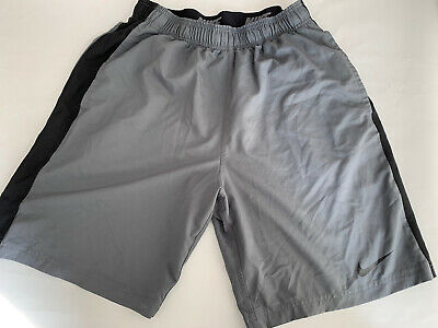 Authentic Nike Dri Fit Mens Grey Gym Sports Shorts Size Large