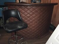 Upholstered Bar with one bar stool