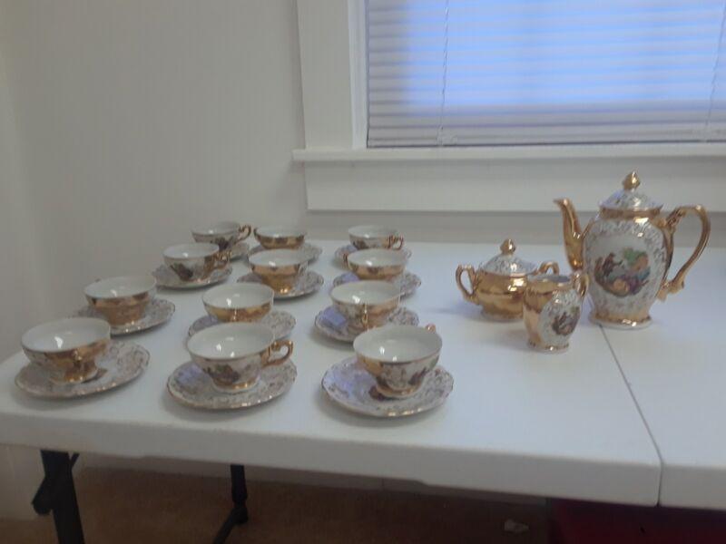 vintage porcelain coffee set