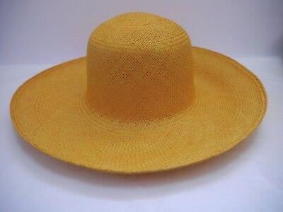 NEW LORO PIANA $900 Cappello Joannesburg straw wide brim sun hat women's size M