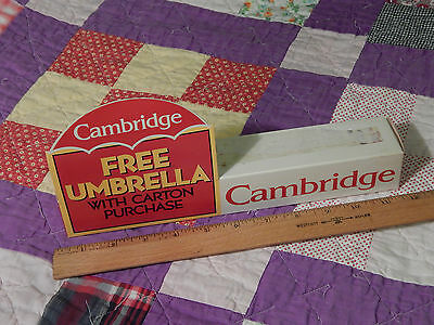 Philip Morris Promo  1994  Cambridge Cigarettes  Umbrella   Ltd   Usa Tobacciana