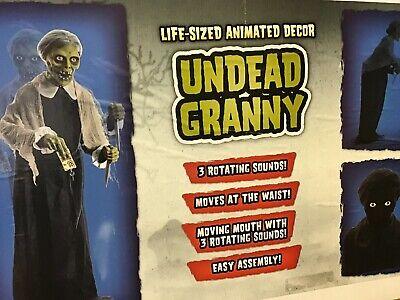 Spirit Halloween Prop Psycho Undead Granny Animated LIFESIZE Bates Motel UNOPEND