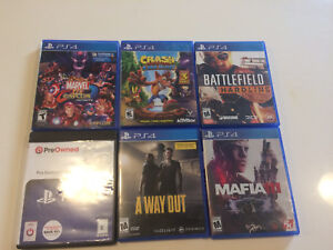 Play Station 4 Games. ( 3 for $50)