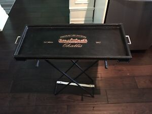 Removeable tray with stand
