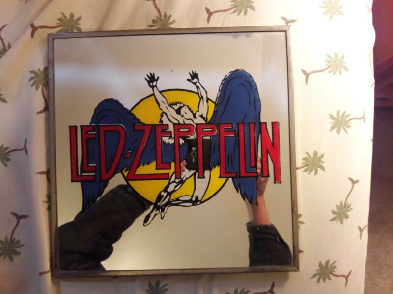 Vintage 80s Led Zeppelin Carnival Mirror 12 x 12 Rare!!!