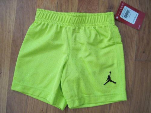 NIKE JORDAN Toddler Athletic Mesh Basketball Shorts Venom Green 2T 3T 4T  NWT