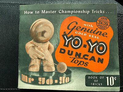 Vintage Rare 1947 Genuine Yo-Yo Duncan Tops book of Championship Tricks Mr YO-YO