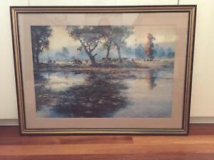 Australian scene by Darcy Doyle 98x 72cm O'Connor North Canberra Preview