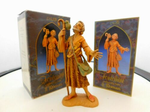"""Fontanini Italy """"Caleb""""  5 inches Figurine with Box & Story Card"""