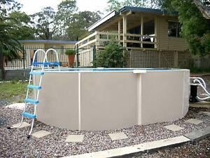 5.6 x 3.0 Braceless above ground pool Panorama Mitcham Area Preview