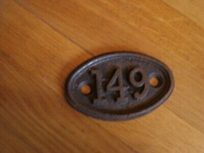 genuine antique vintage cast iron door house train number cottage no 149