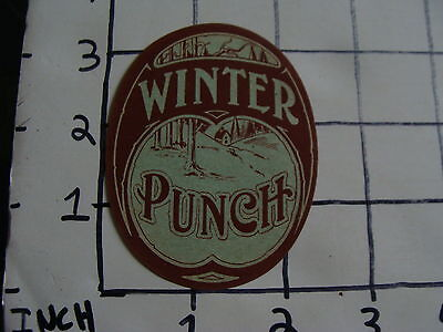 Original Vintage label: WINTER PUNCH (Liquor Punch)
