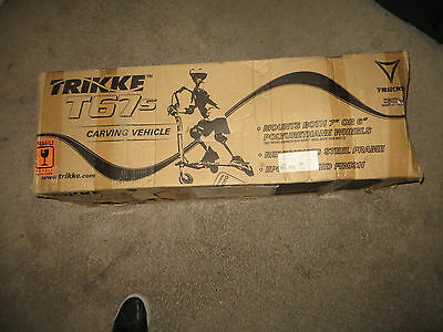 Trikke T67s Carving 3-Wheel Scooter Vehicle Silver - New
