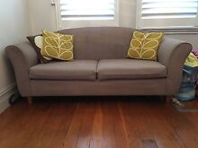 Three & two seater sofa - neutral colour Drummoyne Canada Bay Area Preview