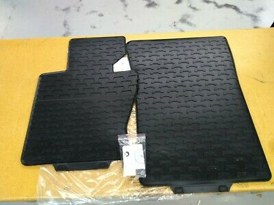 - BMW Black FRONT Rubber Floor Mats OLD STYLE 2004-2010 E83 X3 3.0i 51470428949