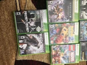Xbox 360 with 500gb hard drive, 12 games & a controller