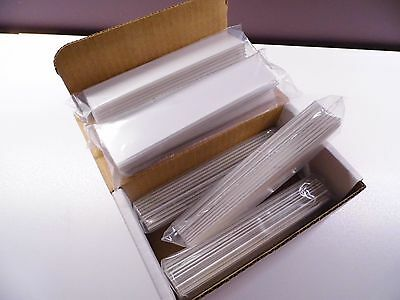 Retail Shelf Price Channel Label Holder 1.25 X 6 Whiteclear Box50 Strips