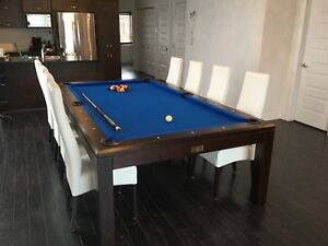 """Pool Table & Dining Table """"Classy"""" with chairs"""