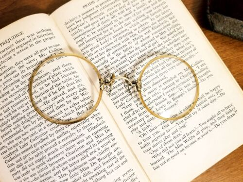 Collectible Early 20th Century Antique Pince-nez Spectacles Eyeglasses