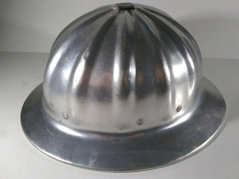 Vintage SUPERLITE Super Lite Metal ALUMINUM Full Brim Hard Hat USA
