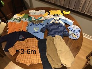 3-6 m boy clothes. Over 40 items