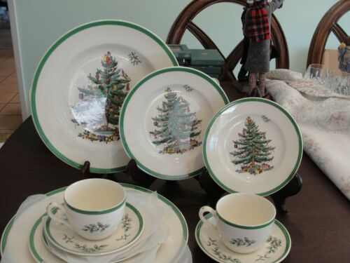 SPODE CHRISTMAS TREE 2 -5 PIECES SETTING 10 PIECES
