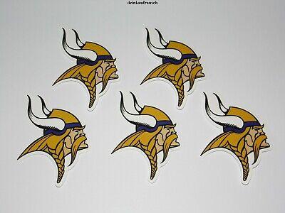 Minnesota Vikings  NFL Sticker - 5 Stück - Football - ca. 5,7x8cm -Aufkleber-NEU