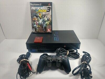 Sony PlayStation 2 Fat Console System  Complete1 controller 1 game 1 memory card